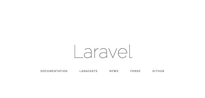 Welcome page Laravel khi cài thành công